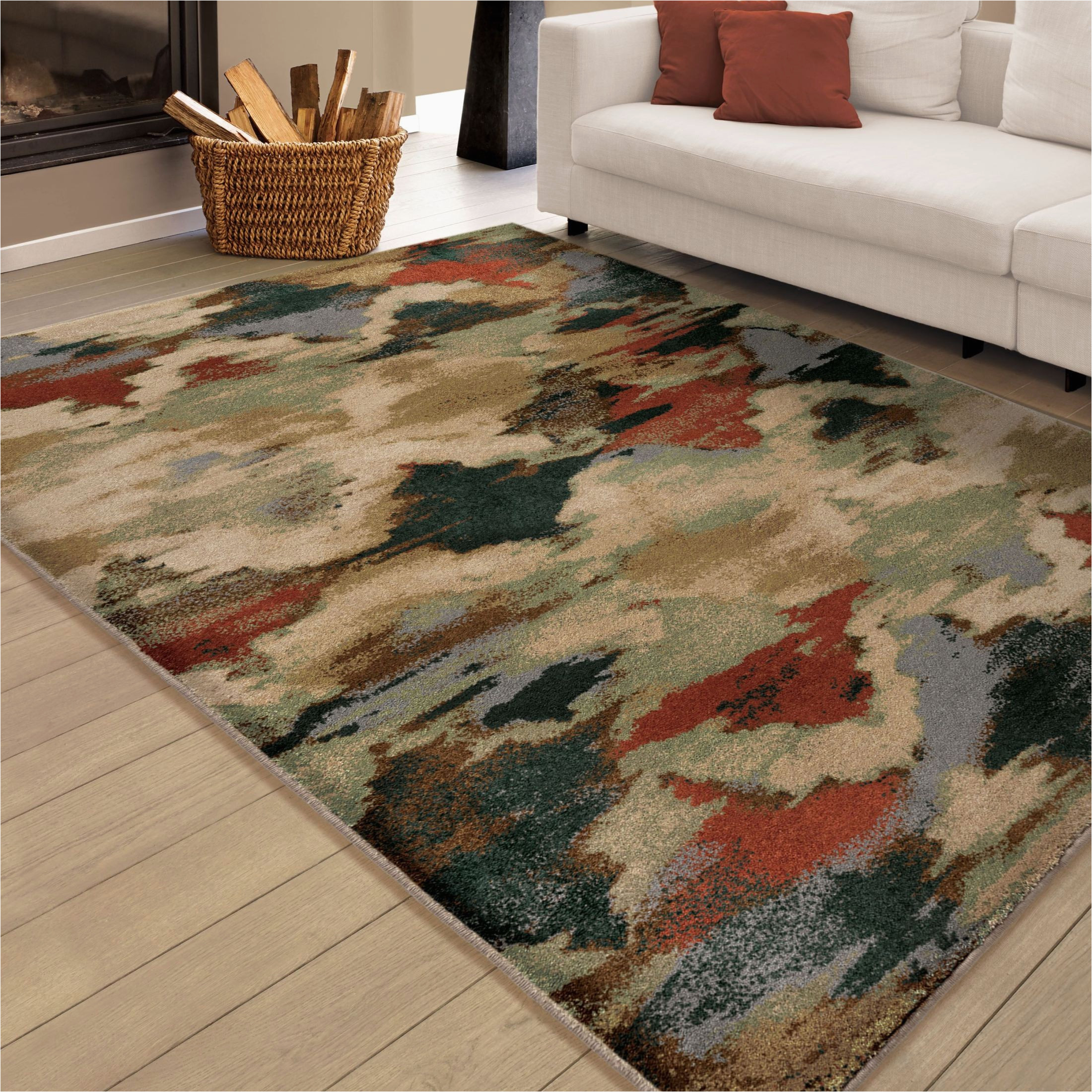 radiance insanely soft abstract harlequin multi large area rug