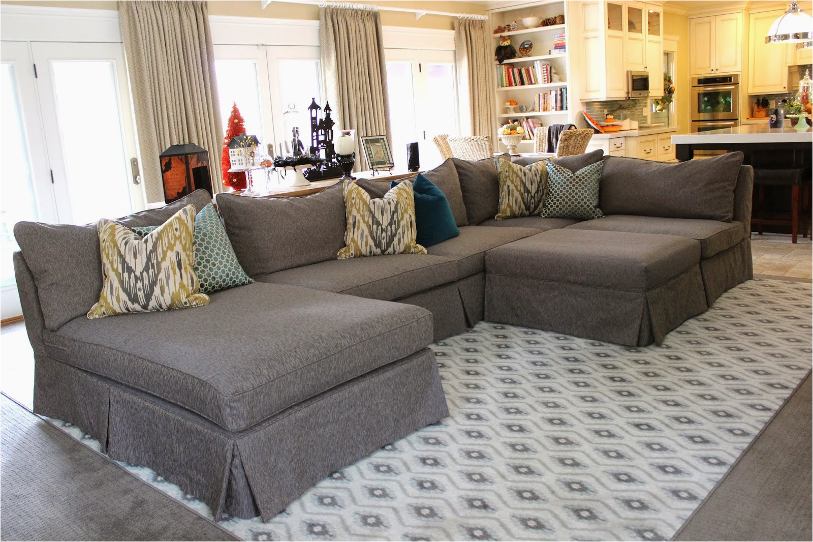 making sectional slipcovers