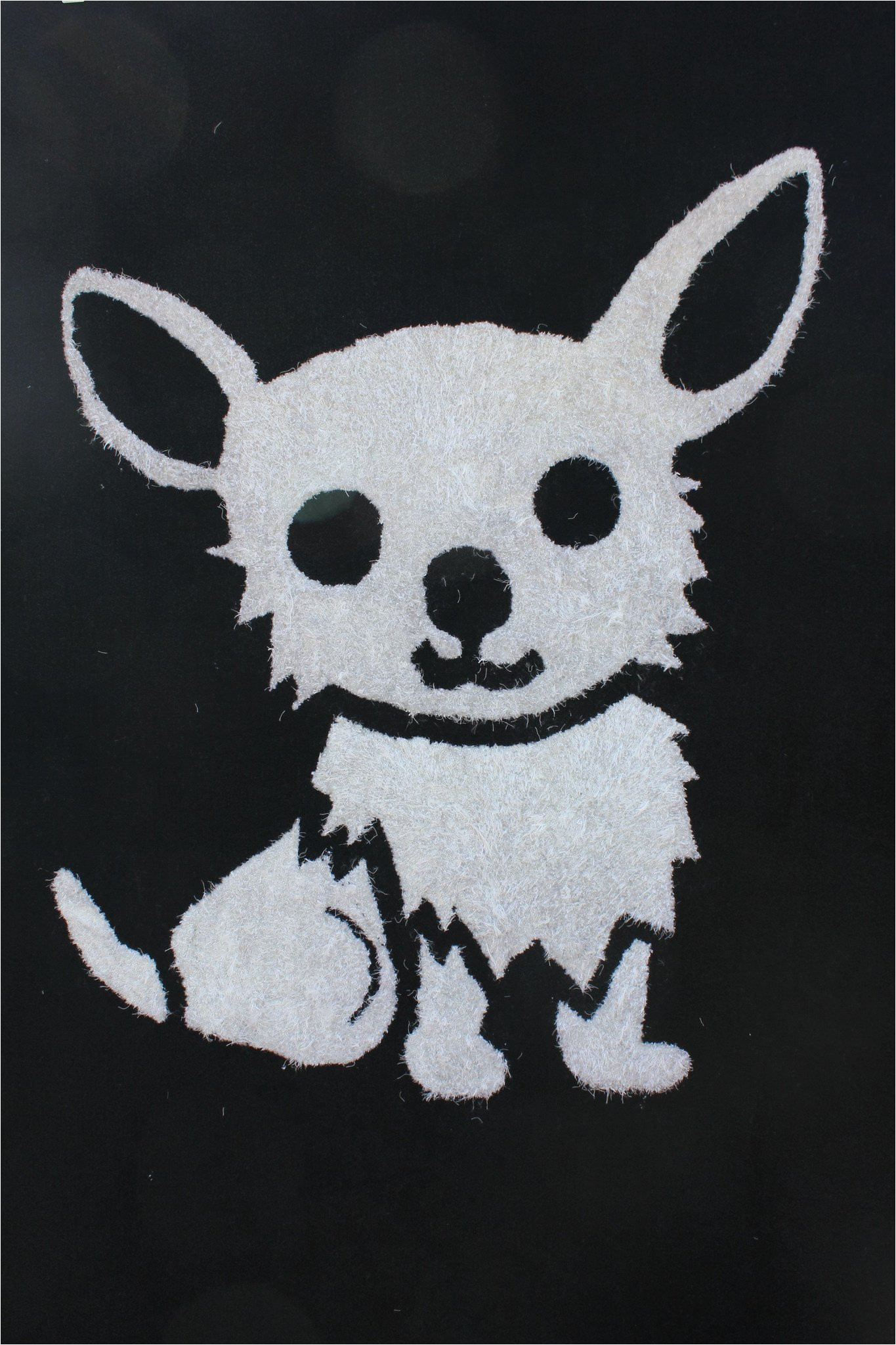 Area Rugs with Dog Designs 4 X 6 Ft All Black Kids Bedroom area Rug with White Dog