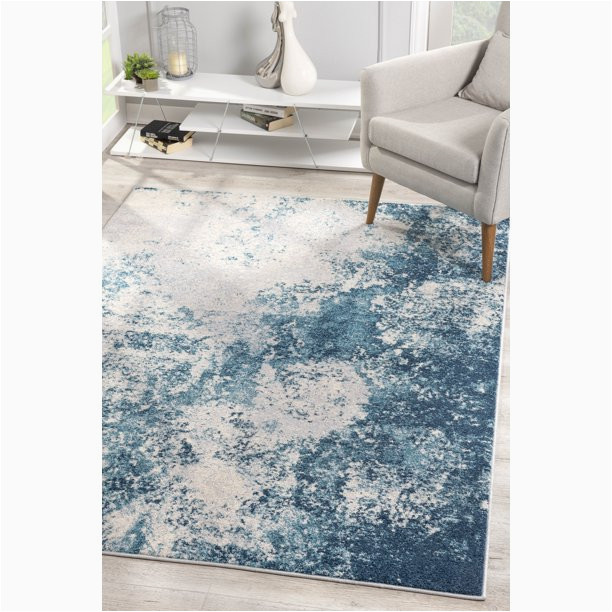 Blue Grey area Rugs 8x10 Harmony Collection Modern Abstract Indoor 8x10 area Rug