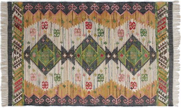 boho woven cotton kilim alina area rug 8x10