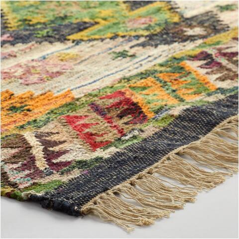 boho woven cotton kilim alina area rug dosortbyourpicksfromfn