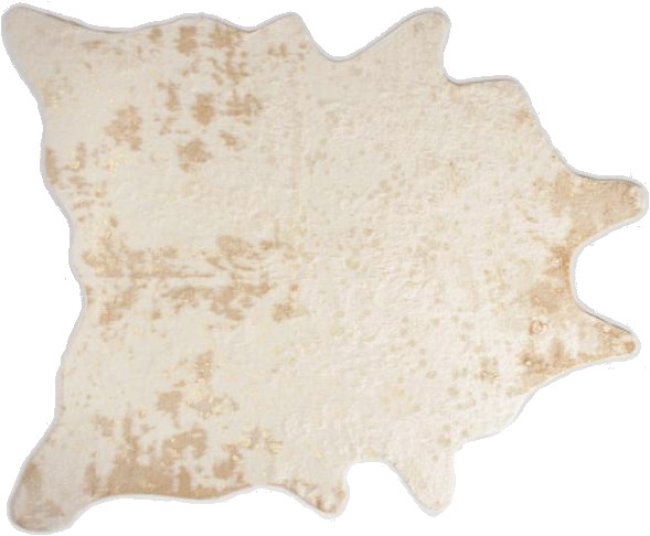 gold printed faux cowhide area rug 5 x 66