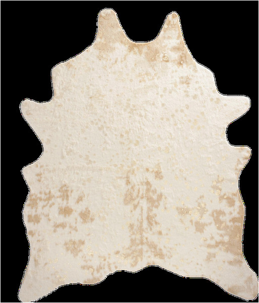 gold printed faux cowhide area rug 6x8