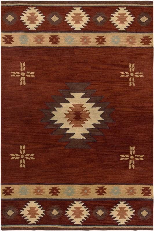 southwest rectangle rustic rug red border color beige 3 x5 prvw vr23684927
