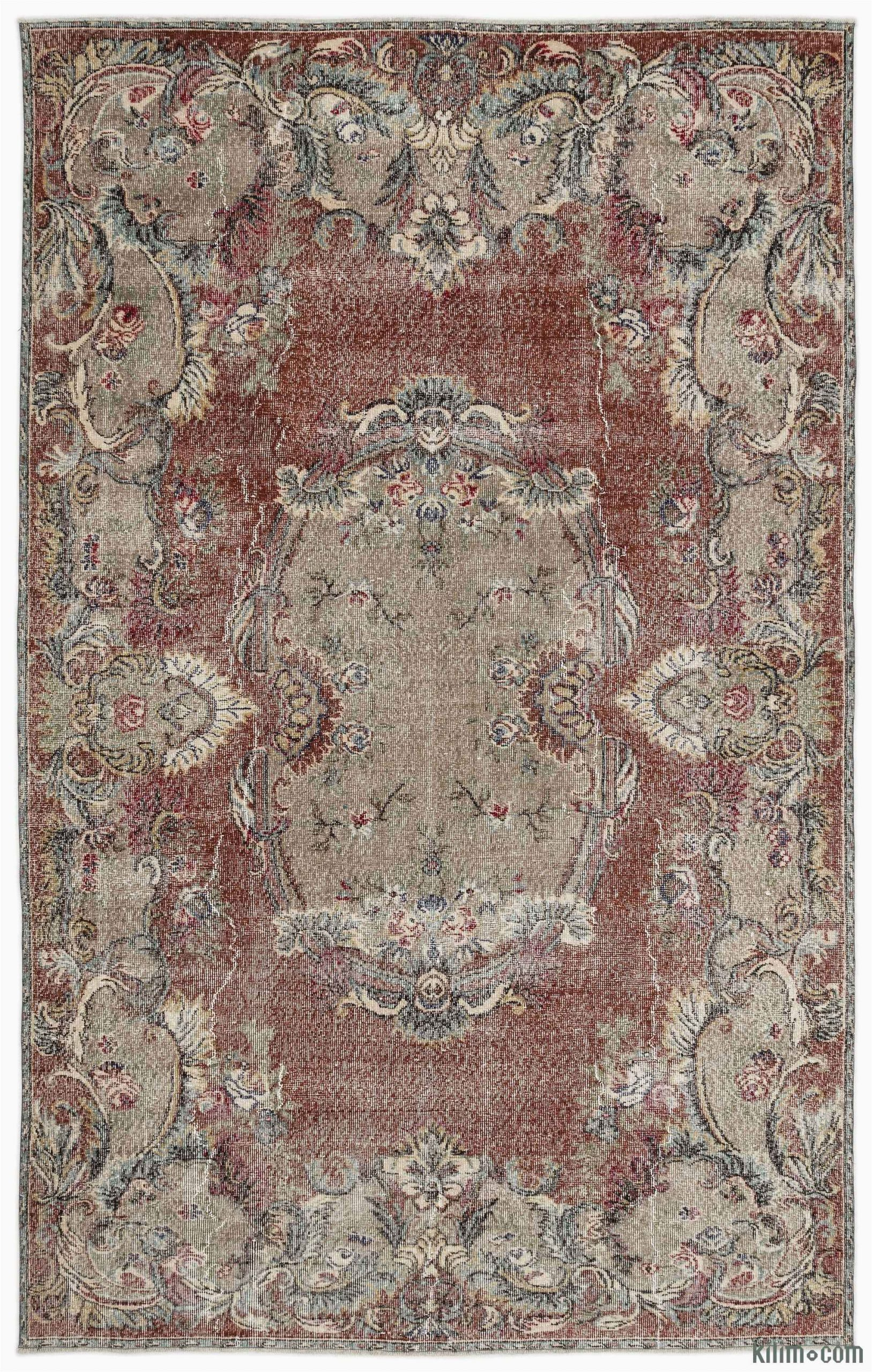 "6 by 10 area Rugs Turkish Vintage area Rug 6 6"" X 10 3"" 78 In X 123 In"