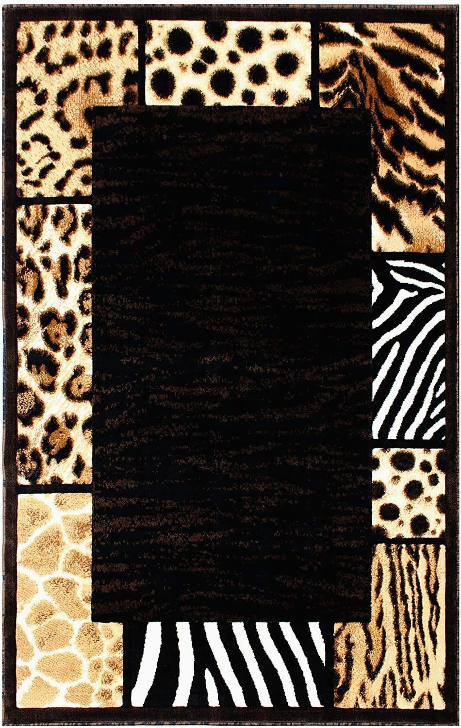 Animal Print area Rug 5×7 Animal Print area Rug 5 Ft X 7 Ft Black Skinz 73 Size 5×7
