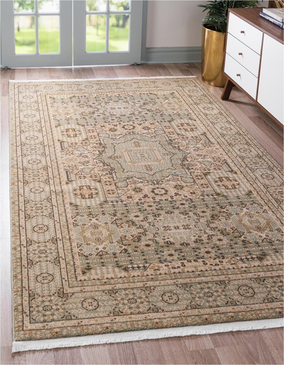 Bed Bath and Beyond area Rugs 9×12 Amina Light Green Vintage 9×12 area Rug In 2020