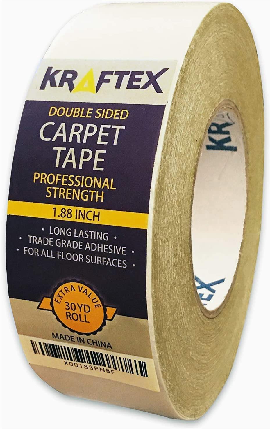 Best Carpet Tape for area Rugs Double Sided Carpet Tape 90ft 30yrd Roll Double Sided Tape Heavy Duty for Rugs Mats Pads & Runners Rug Tape for Hardwood Floors Tile Laminate 2