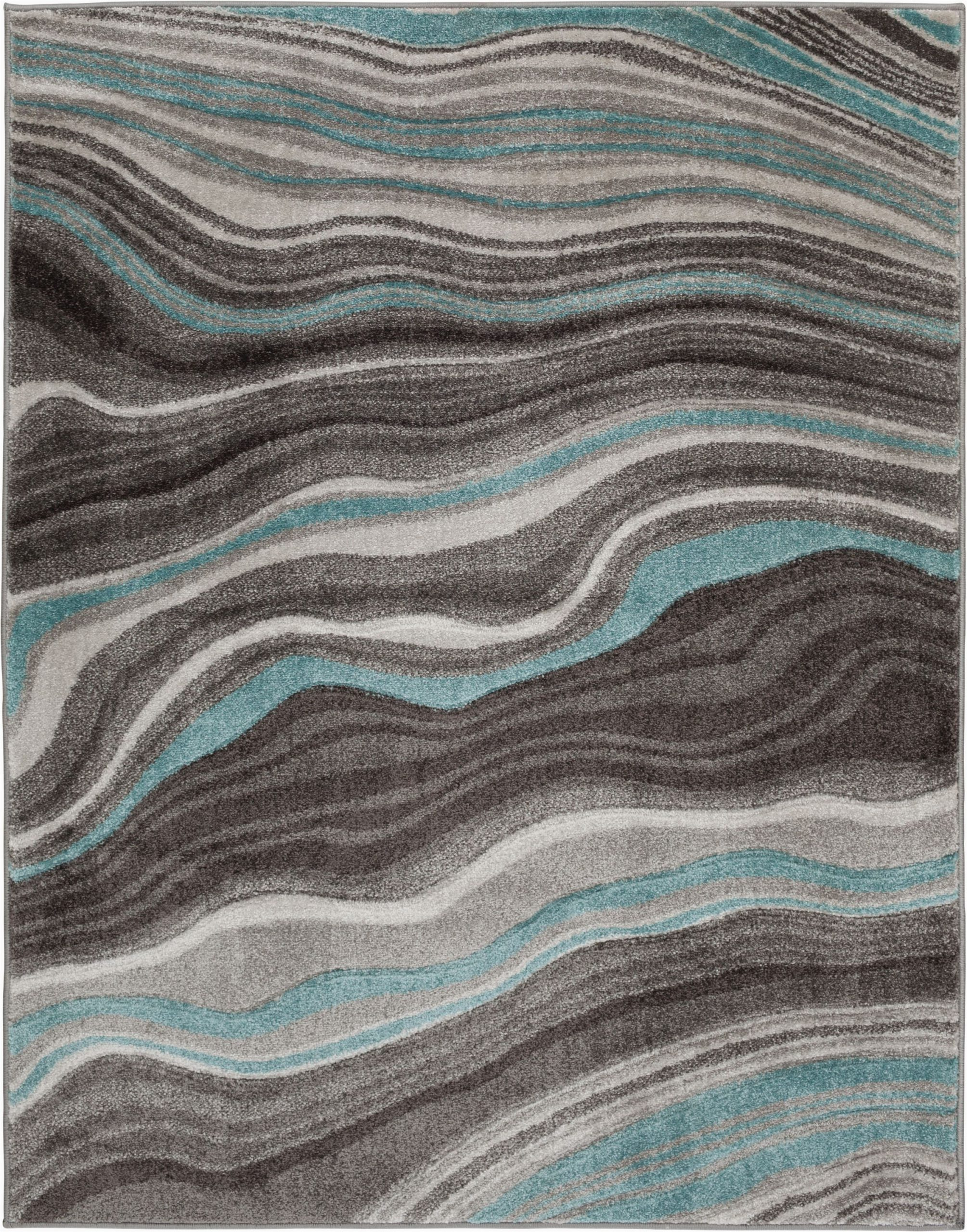 Better Homes and Gardens area Rug Waves Better Homes & Gardens Gray & Aqua Waves area Rug Multiple Sizes Walmart