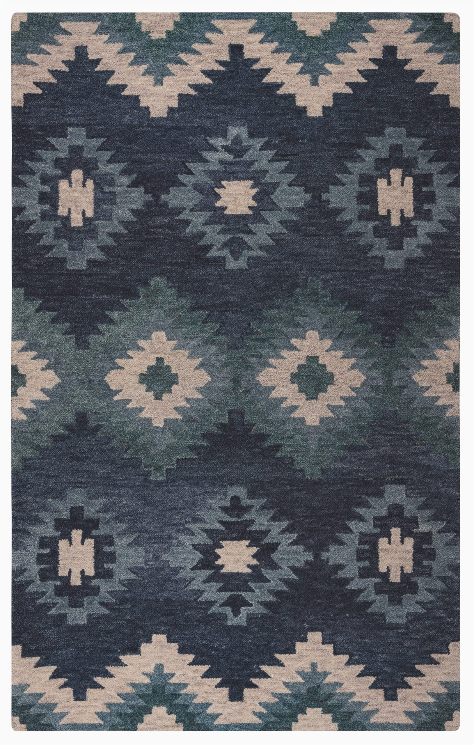 Birch Lane Rugs Blue Damien Hand Tufted Blue area Rug