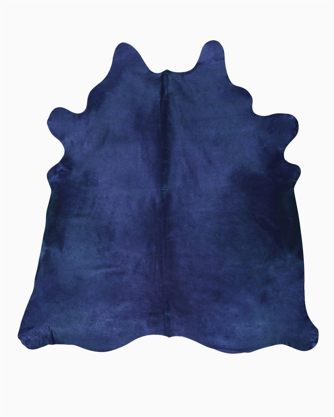 Blue Cow Skin Rug Navy Blue Cowhide Rug