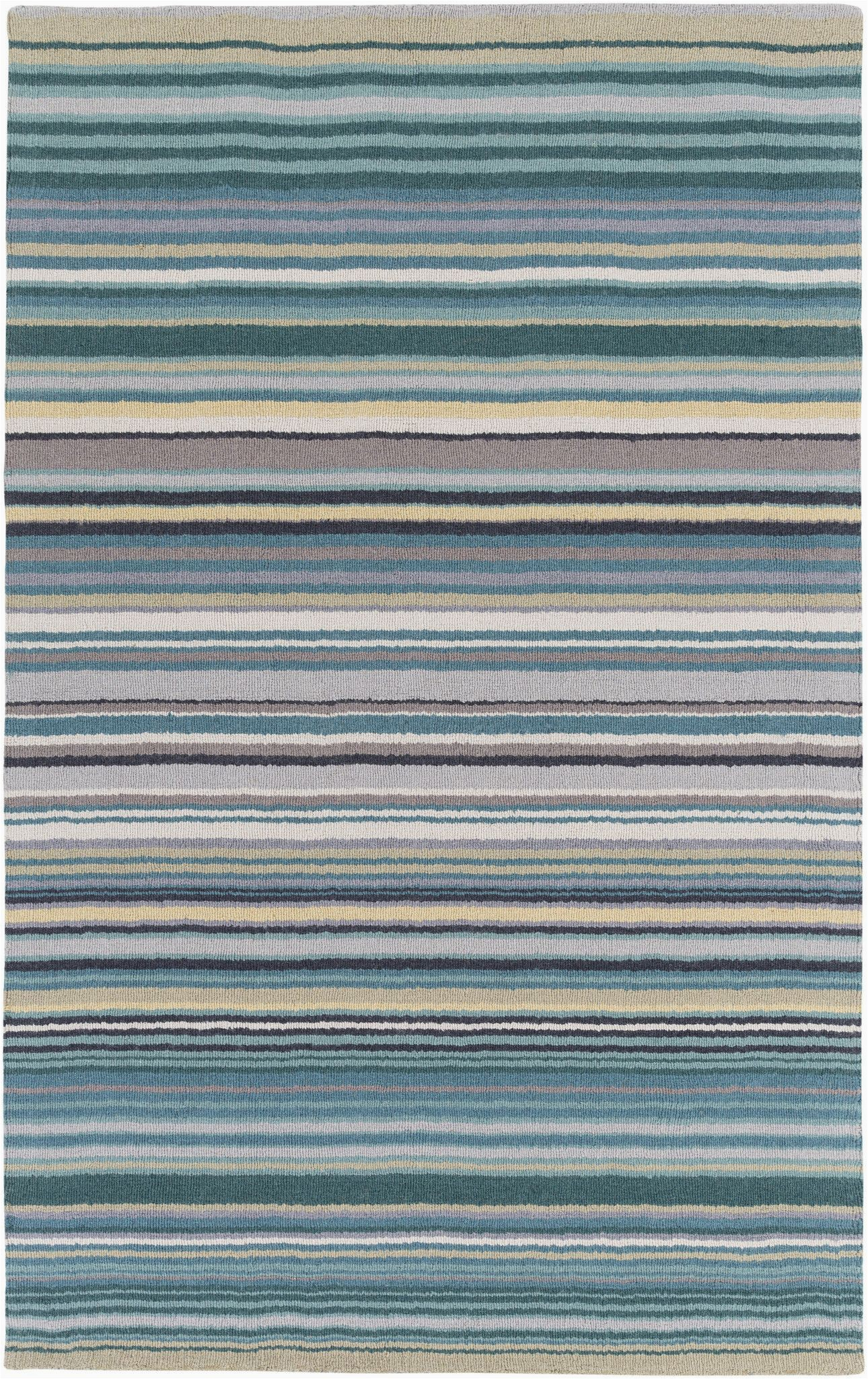Blue Green Striped Rug Surya Blowout Sale Up to Off M5419 23 Mystique Stripes