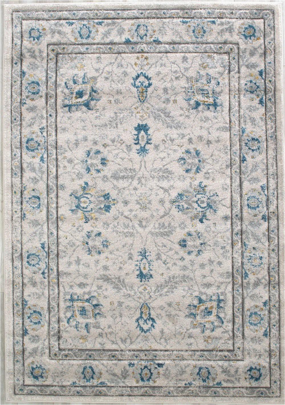 "Blue oriental Rugs 8×10 White Ivory Gray Blue oriental Rug 7 8"" X 10 2"
