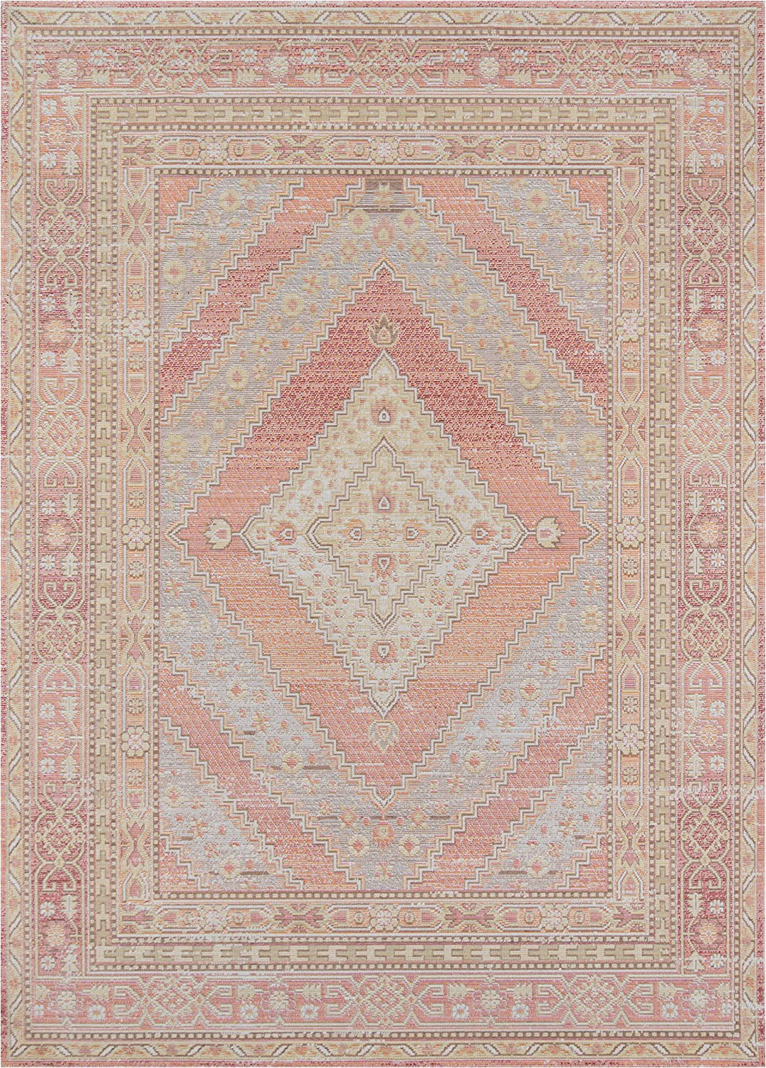 """Blush and Gold area Rug Momeni isabella Traditional Geometric Flat Weave area Rug 2 0"""" X 3 0"""" Pink"""