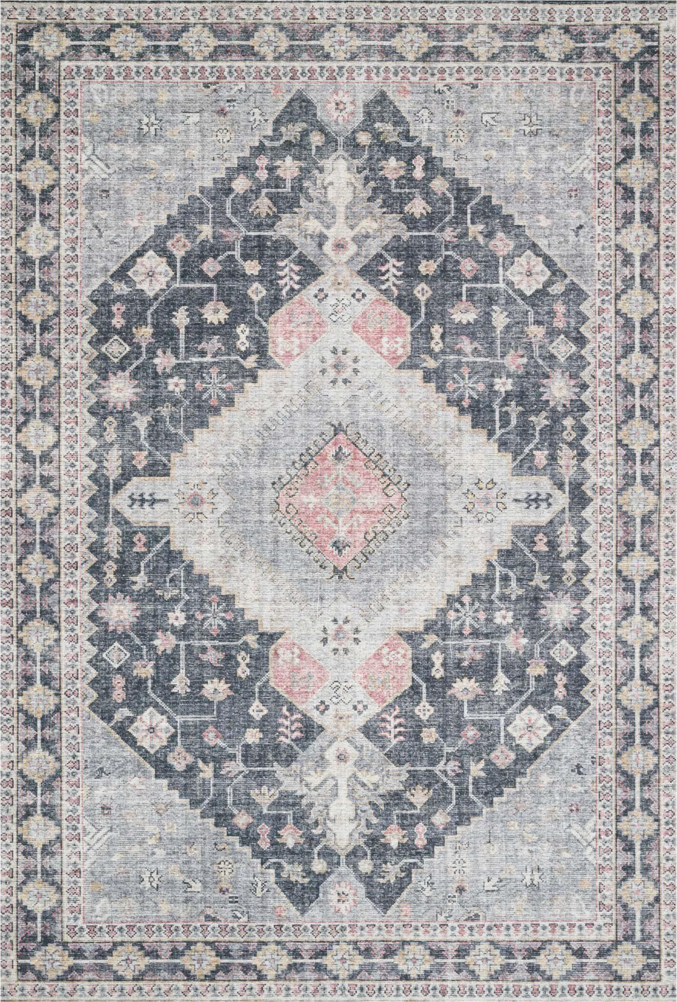 Blush and Gold area Rug Tribal Style area Rugs
