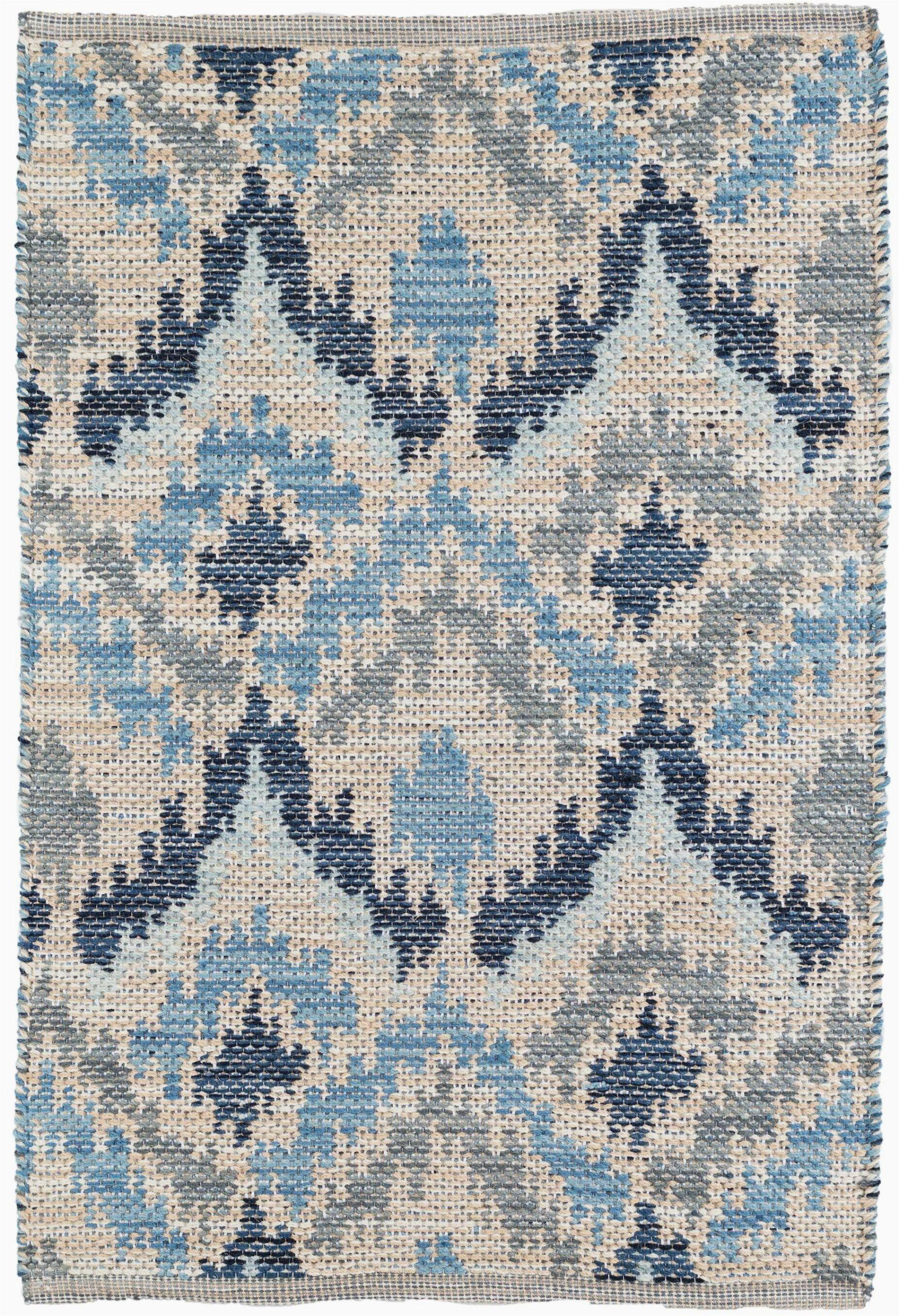 Flat Weave Blue Rug Medina Ikat Handmade Flatweave Blue Gray Cream area Rug