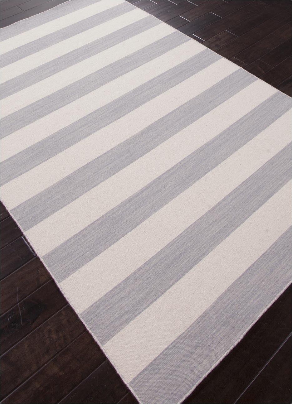 Gray and White Striped area Rug Dias Collection From Jaipur Gray and White Striped area