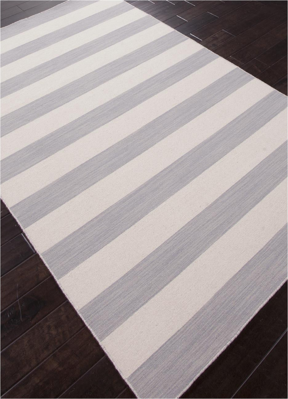 Grey and White Striped area Rug Dias Collection From Jaipur Gray and White Striped area