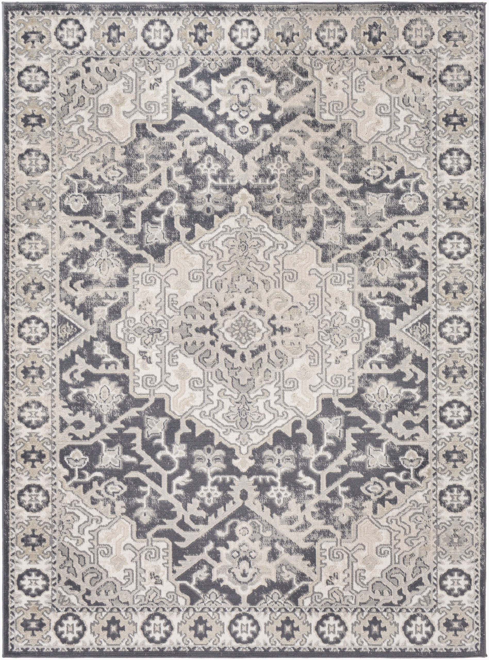 Ivory and Charcoal area Rug Acadia oriental Ivory Charcoal area Rug