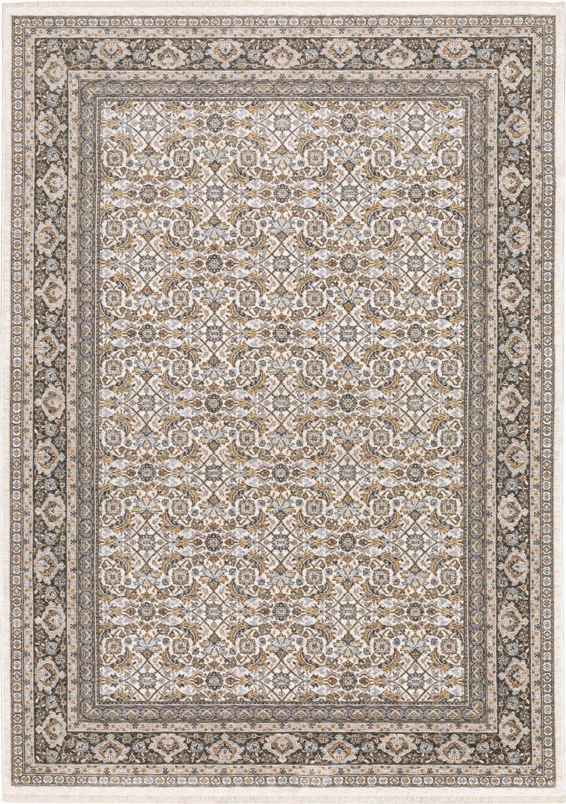 Ivory and Charcoal area Rug oriental Weavers Maharaja 2061n Ivory Charcoal area Rug