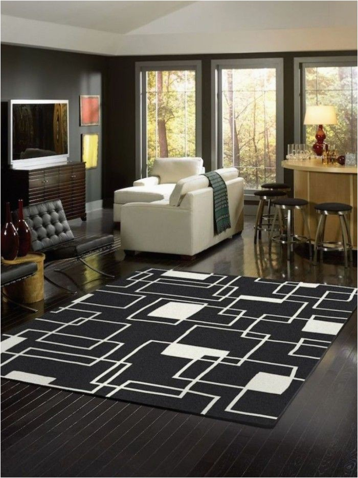 Large area Rugs Under 100 Cheap Black and White area Rug for Living Room Under $ 100