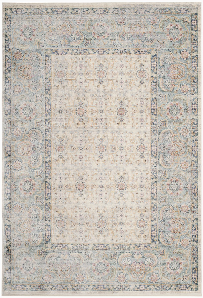 Light Blue area Rug 5x8 Safavieh Illusion Ill701b Cream Light Blue area Rug