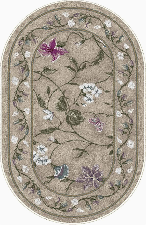 """Living Room area Rugs Amazon Brumlow Mills butterfly Floral area Rug for Kitchen Living Room or Home Accent Carpet 20""""x34"""" Opal"""
