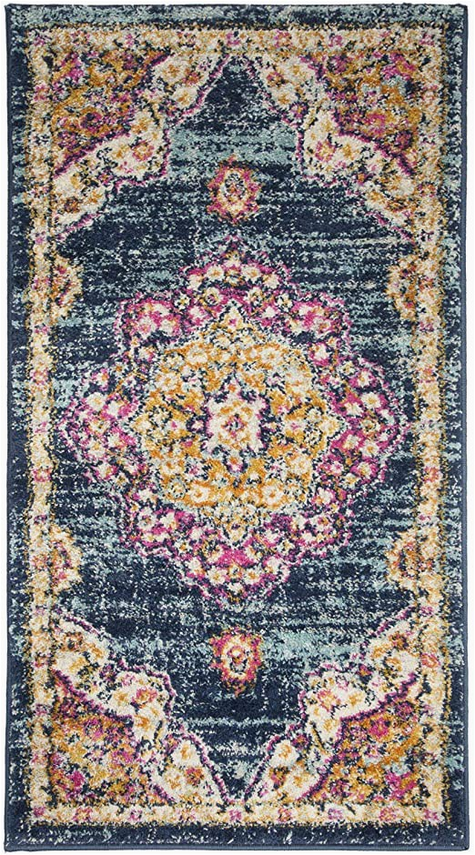 "Living Room area Rugs Amazon Ksana soft Runner Rug 2 2"" X 4 area Rug Luxury Carpets for Living Room Bedroom and Hallway Azurite Phlox Pink"