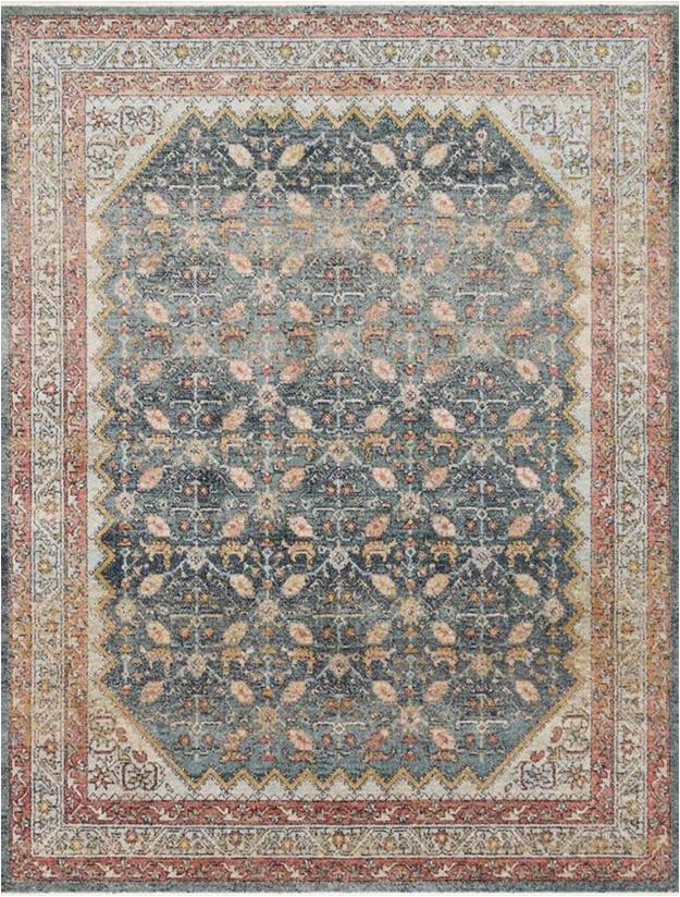 Magnolia Home Collection area Rugs Graham Gra 01 Blue Persimmon area Rug Magnolia Home by Joanna Gaines