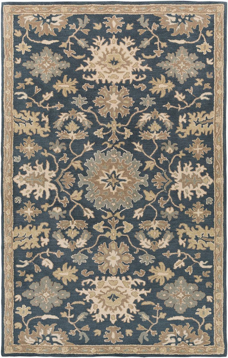 Navy and Taupe area Rug Caesar Navy Taupe area Rug
