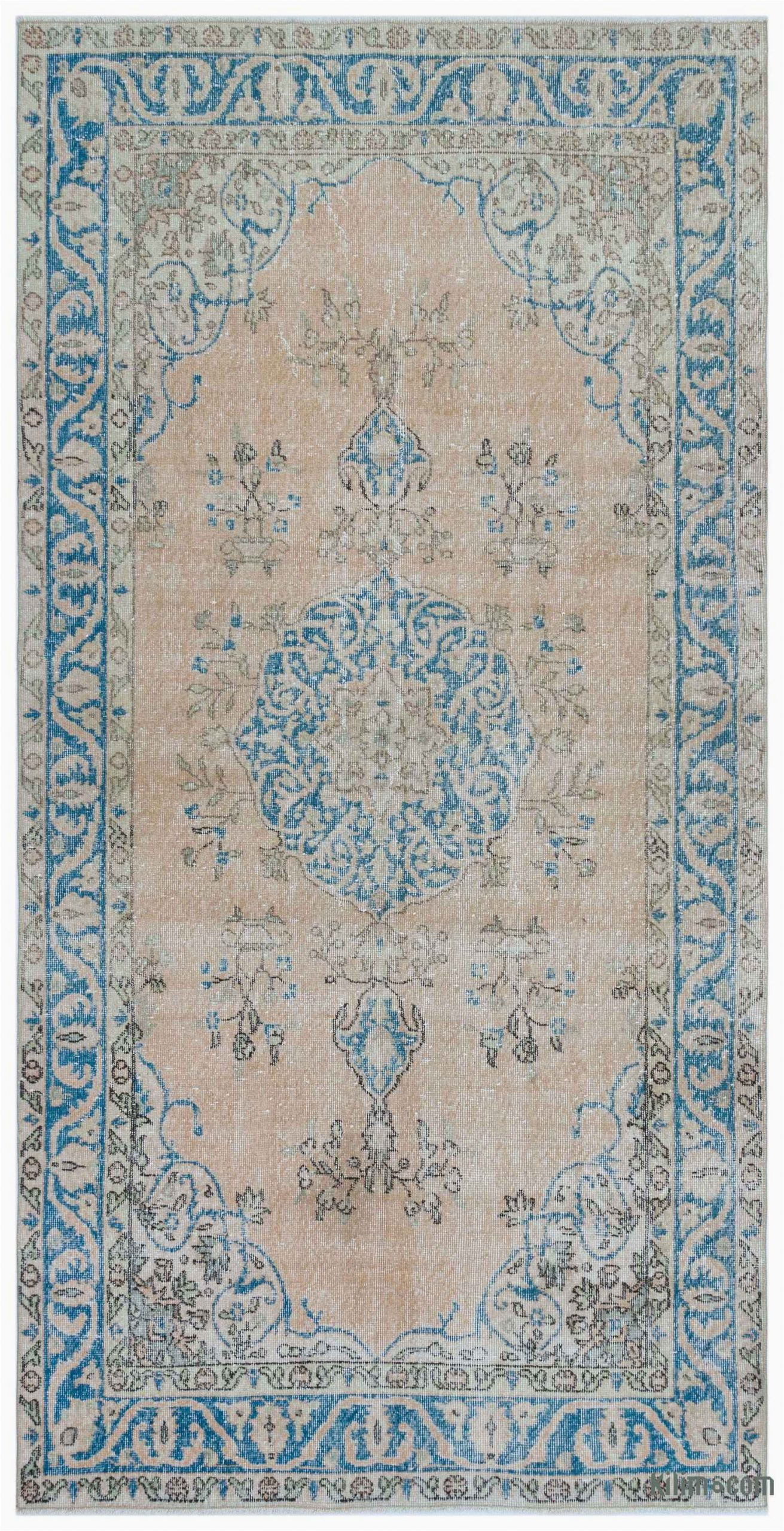 """4 by 7 area Rug Turkish Vintage area Rug 4 7"""" X 9 2"""" 55 In X 110 In"""
