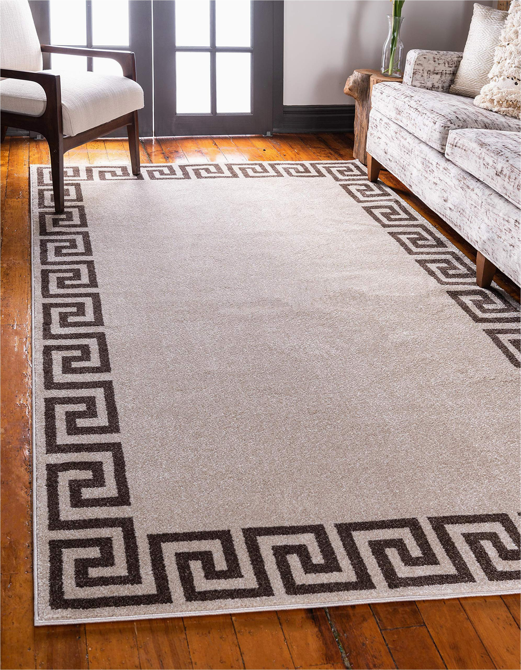 5 X 8 area Rugs with Rubber Backing Unique Loom athens Geometric Casual area Rug 5 0 X 8 0 Beige Brown