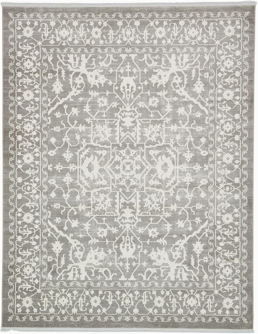 8 by 10 Grey area Rug Light Gray 8 X 10 New Vintage Rug
