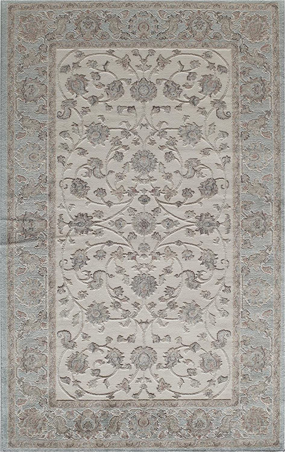 8 Ft by 10 Ft area Rug Rugs America area Rug 8 Ft 0 In X 10 Ft 0 In Ivory Blue