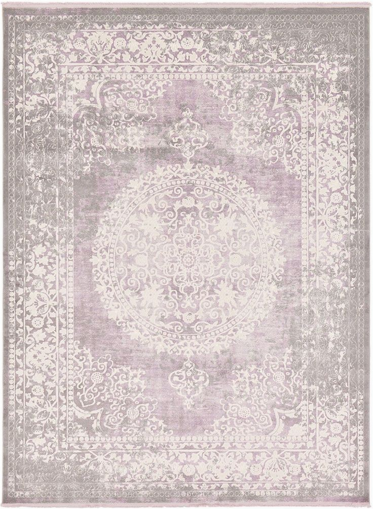 9 Foot Square area Rug Modern Vintage 9 Feet by 12 Feet area Rug Gorgeous Pink