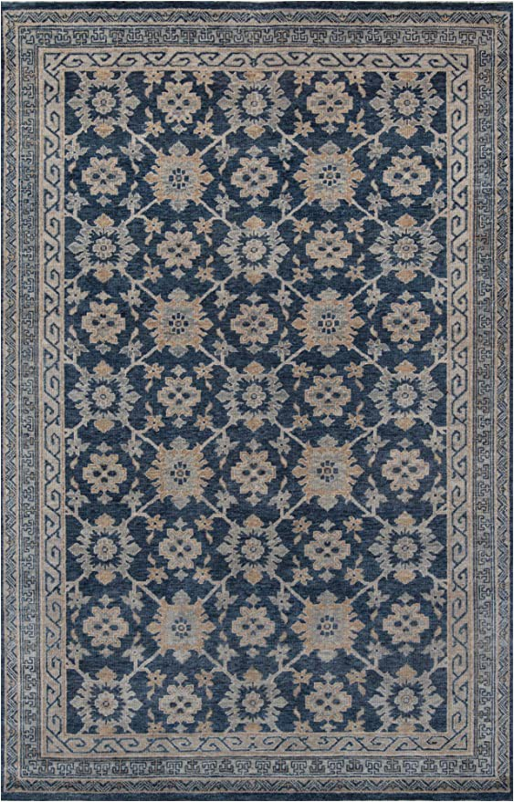 Amazon 2 X 3 area Rugs Amazon Momeni Banaras area Rug 2 X 3 Blue Kitchen