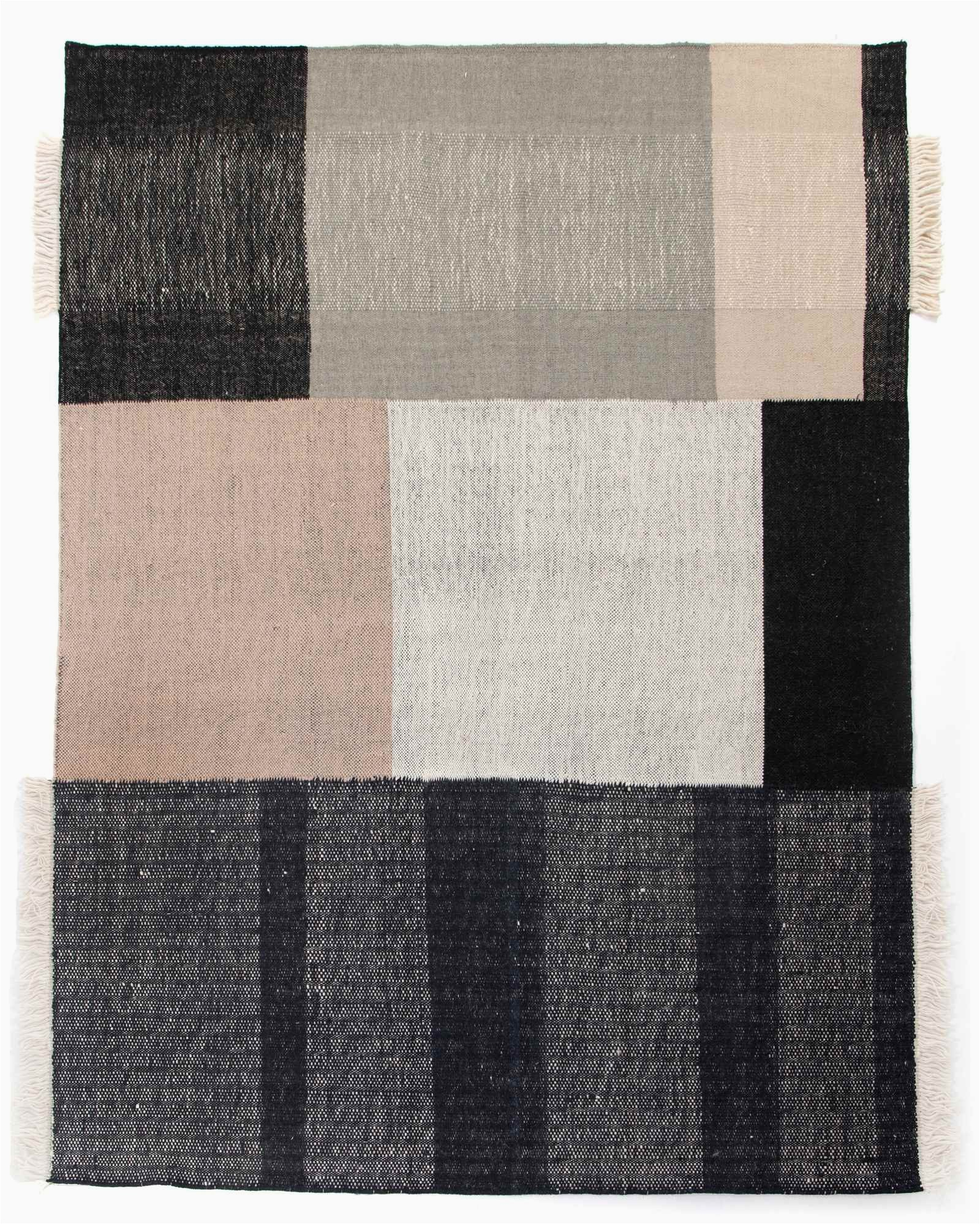 Black and Cream area Rug 8×10 Bran Rug 8×10 In Black and Cream