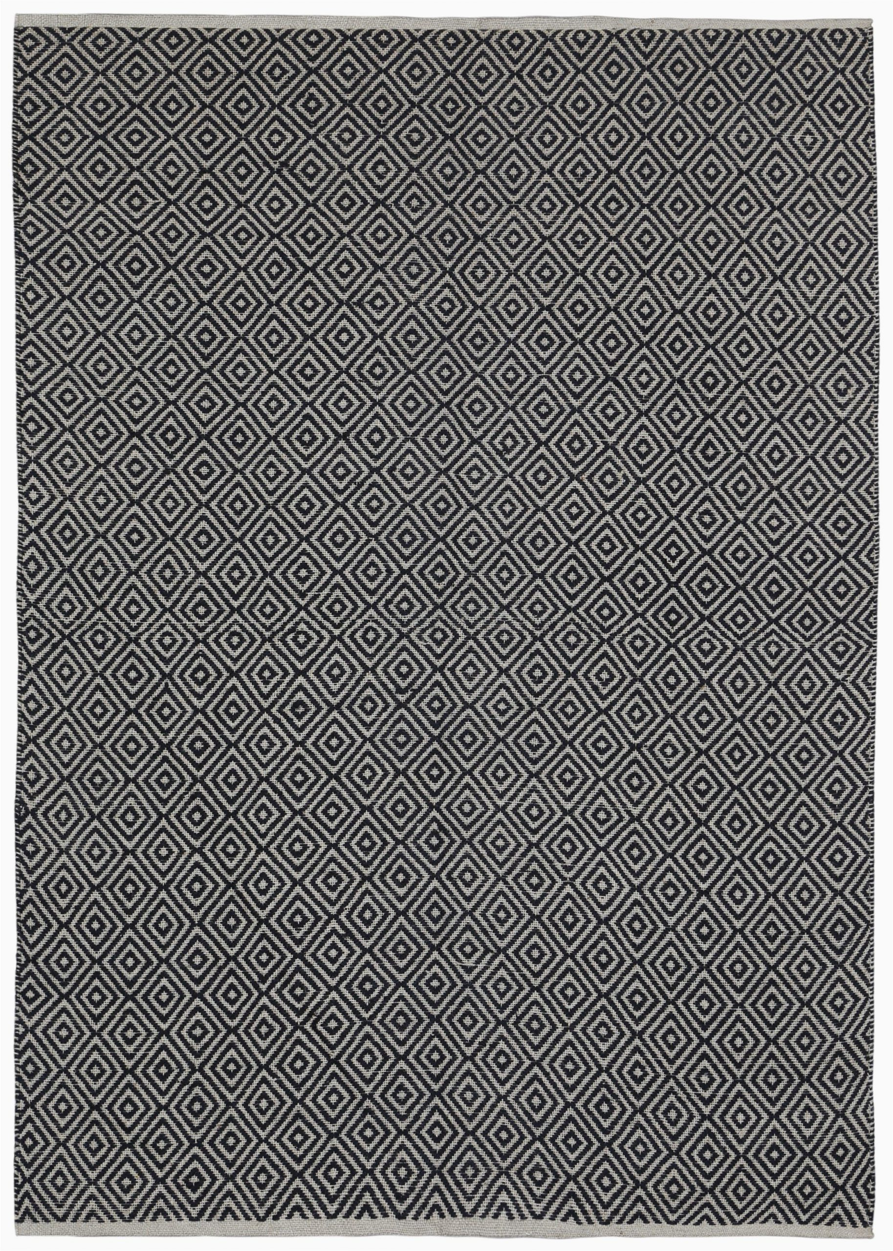 Black and White Woven area Rug Synthia Hand Woven Black area Rug