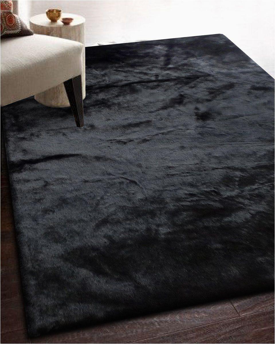 Black Faux Fur area Rug Ikea Black Fur Rug