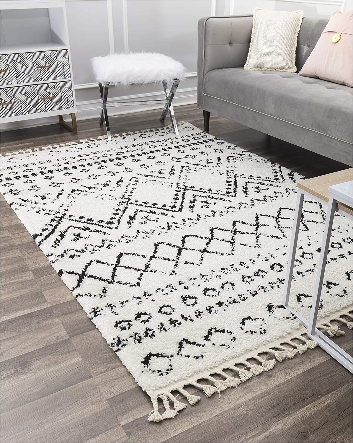 Buy now Pay Later area Rugs Amazon Cosmoliving by Cosmopolitan Wisp area Rug 8 0