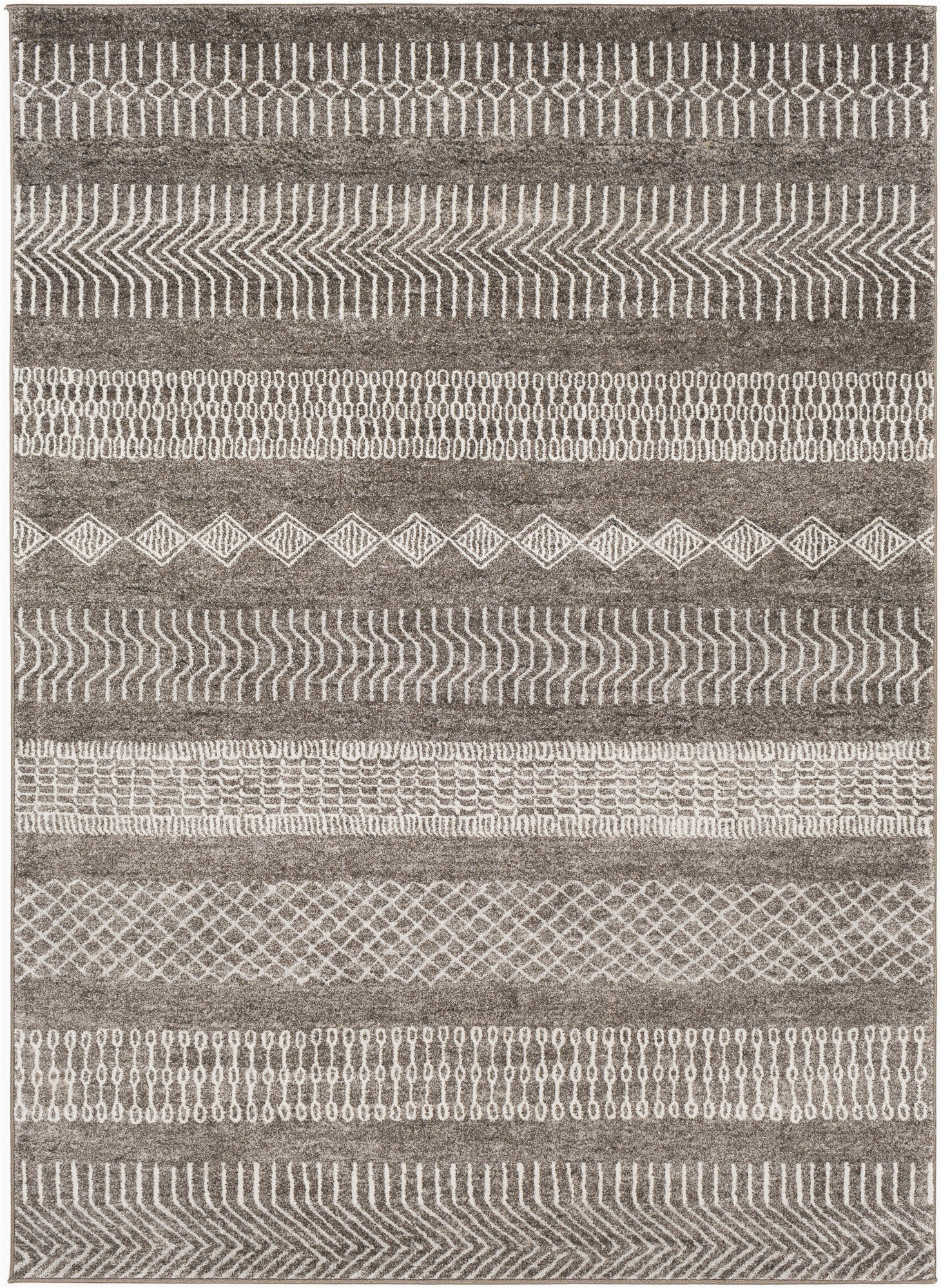 Dark Brown and Gray area Rug Brandi Bohemian Dark Brown Gray area Rug