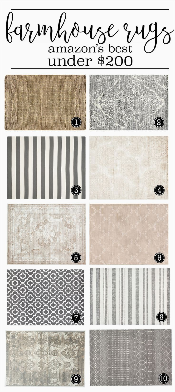 Farmhouse Style area Rugs 8×10 where to Buy the Best Farmhouse Rugs Under $200