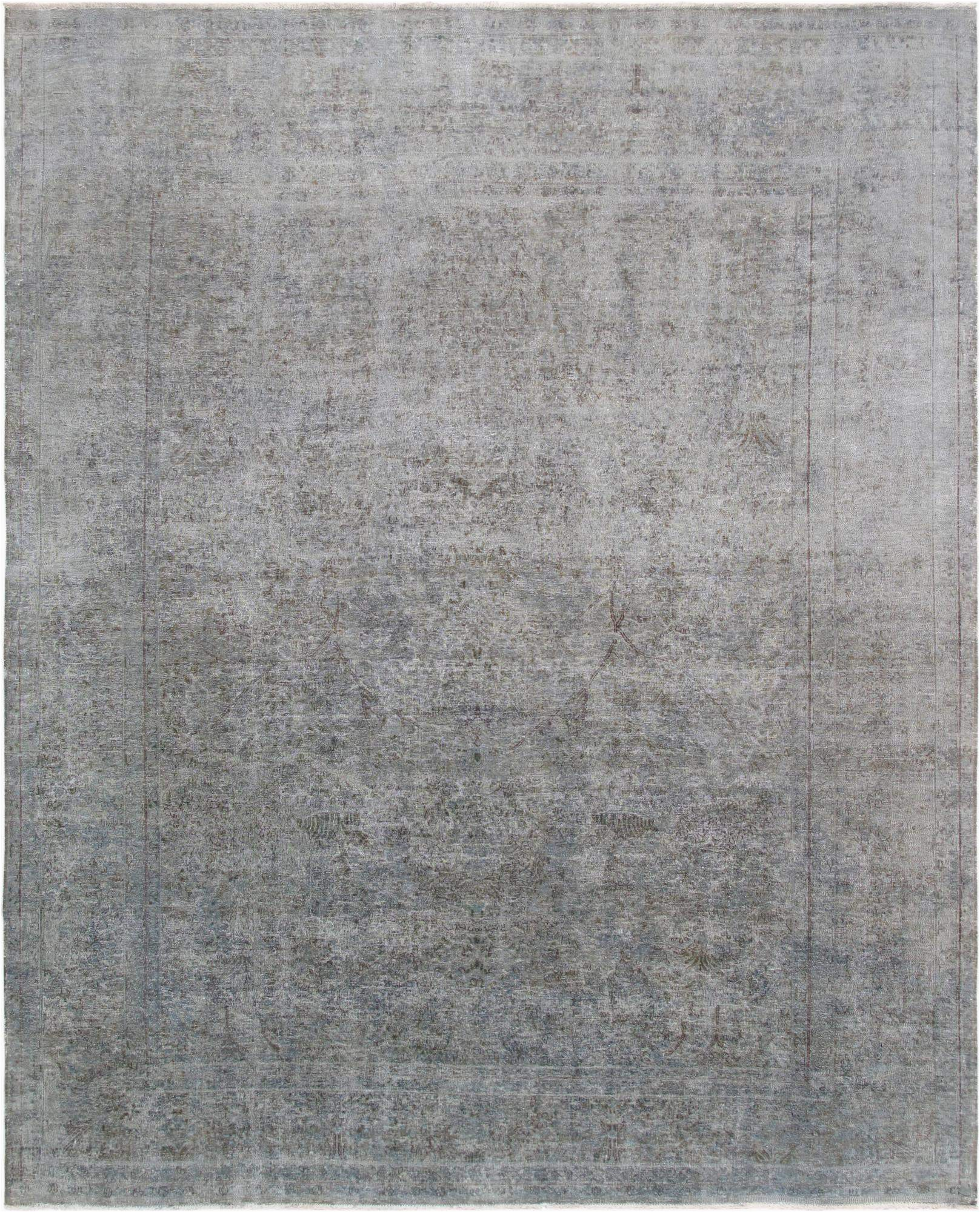 Grey and White area Rug 9×12 9 X 12 Overdyed Grey Wool area Rug