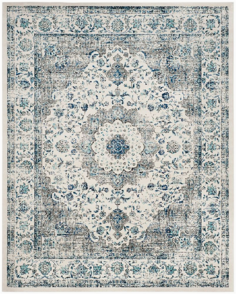 Hdc Ethereal Gray area Rug Evoke Jaime Grey Ivory 8 Ft X 10 Ft Indoor area Rug