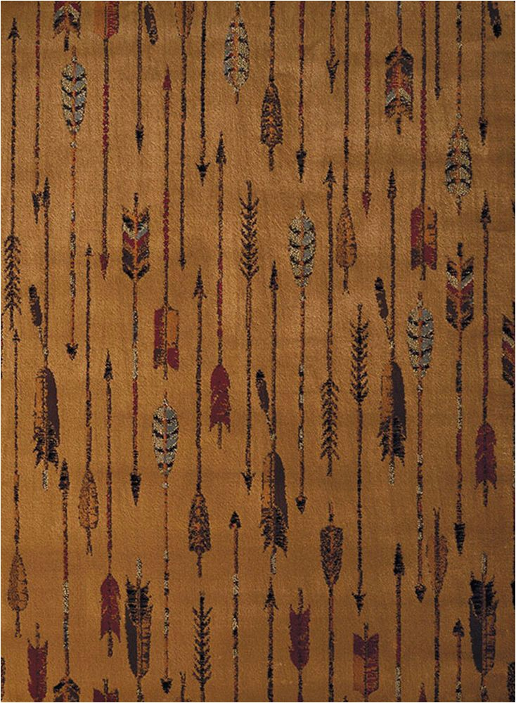 Lodge area Rugs 8 X 10 Brown Quilted Arrow southwestern Cabin Lodge area Rug 8 X