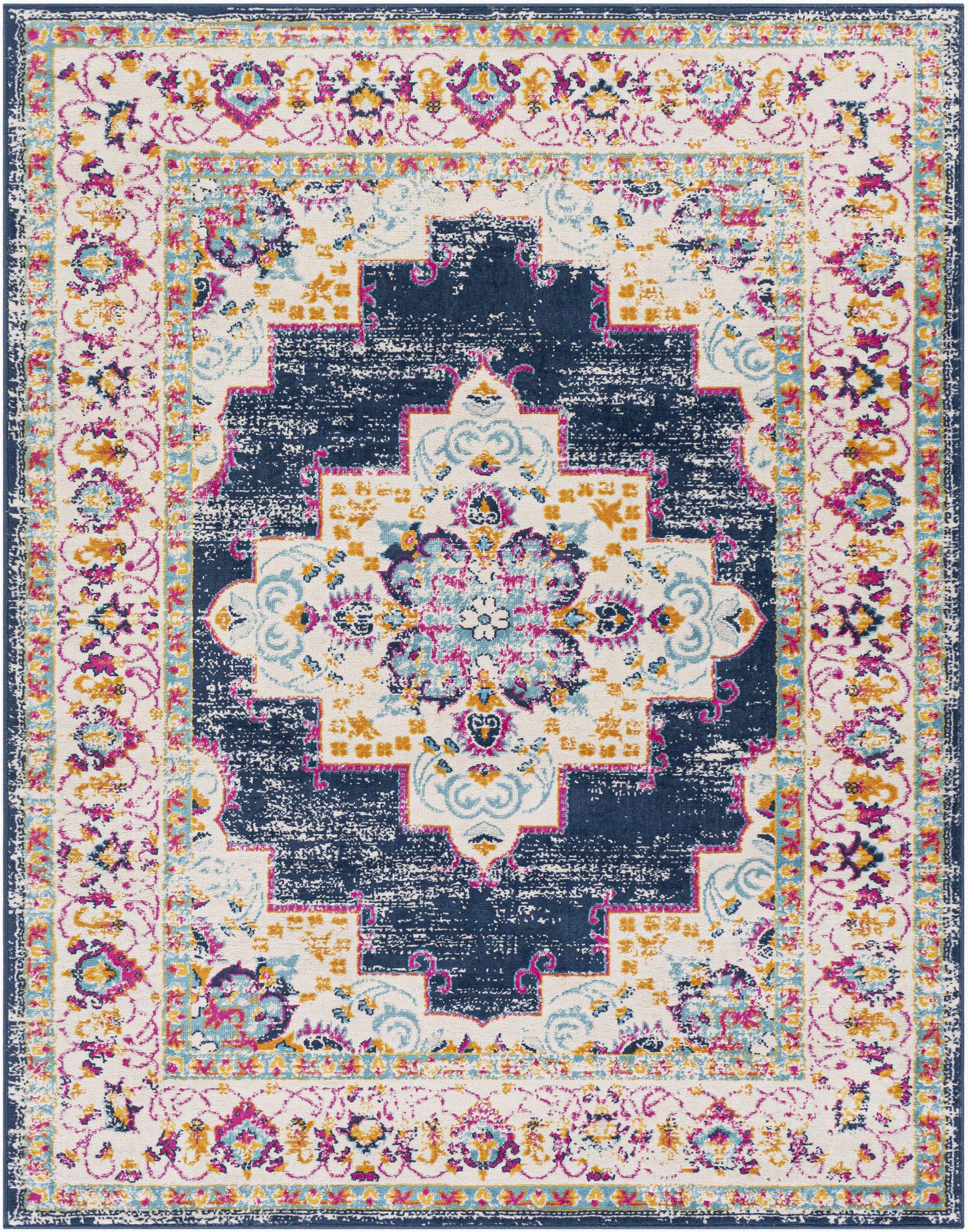 Navy Blue and Pink area Rug Leaver oriental Navy Pink area Rug