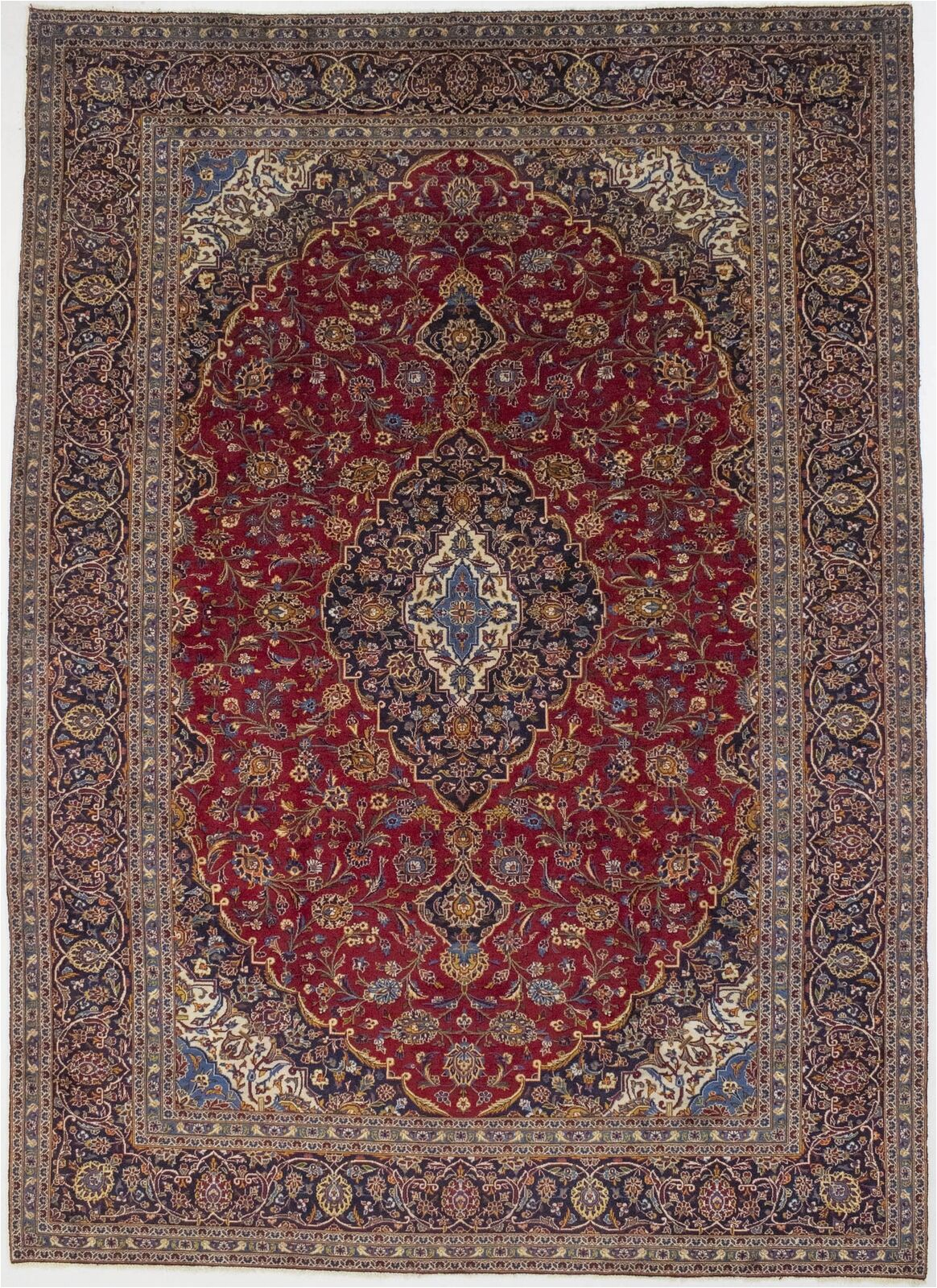 Nuloom Handmade Bold Abstract Floral Wool area Rug 10×14 Vintage Classic Floral Wool Handmade Red oriental Rug Home Carpet 9 7×13 6