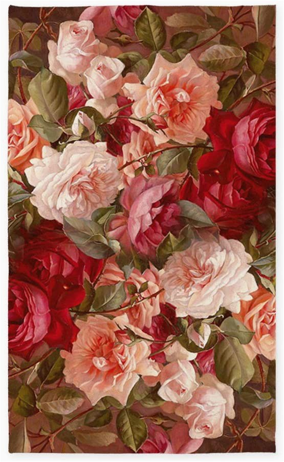 Roses Department Store area Rugs Cafepress Floral Pink Roses 3 X5 Decorative area Rug Fabric Throw Rug