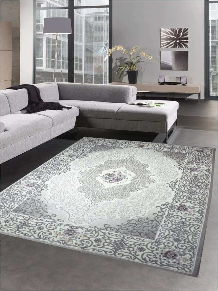 Roses Department Store area Rugs Living Room Rug Classic Carpet oriental with Roses Gray Size 120x170 Cm